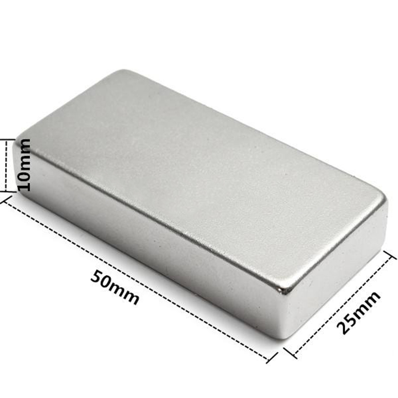 1Pc Super Strong Block Cuboid Magnet 50x25x10mm Rare Earth Neodymium N52 NdFeB Magnets For Electronics Machinery