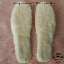 genuine sheepskin fur insole/ wool insole/warm insole made in china 1 pair unisex thicken warm snow boots insole winter white fur wool insole heated insole women height increase insole