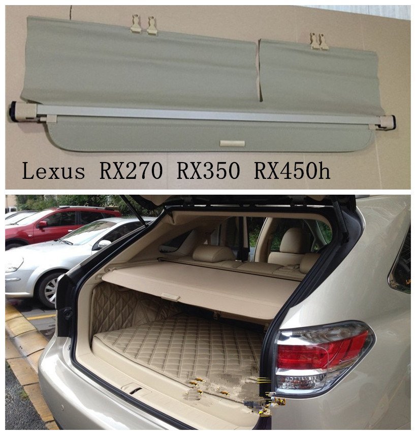 Car Rear Trunk Security Shield Cargo Cover For Lexus RX270 RX350 RX450h 2008 09 10 11 12 2013 2014 2015 High Qualit Accessories new arrival for lexus rx200t rx450h 2016 2pcs stainless steel chrome rear window sill decorative trims