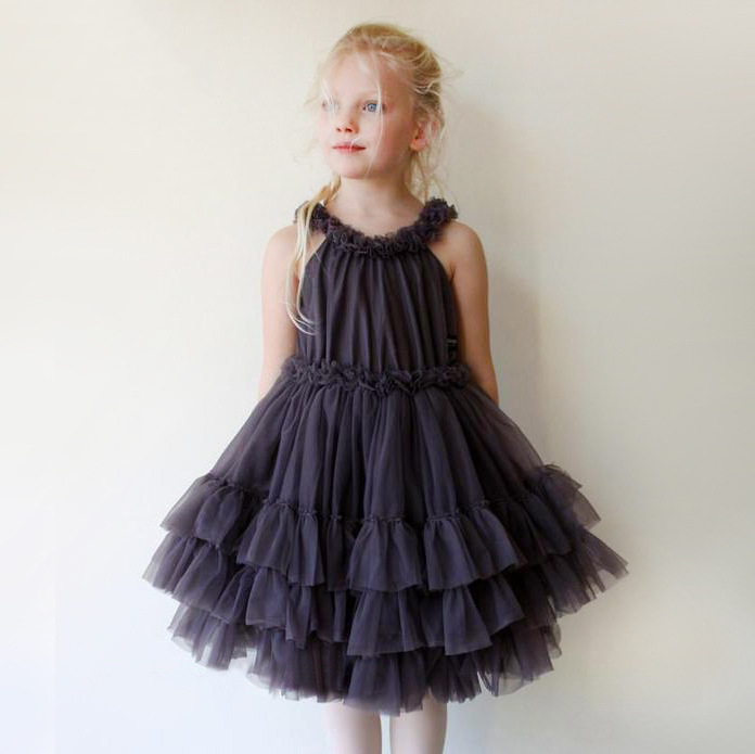 Summer new children 's clothing sweet pink/dark blue/ white girl kids fringed sleeveless dress lace multi-layer cake dress maison jules new junior s small s pink combo lace crepe contrast trim dress $89
