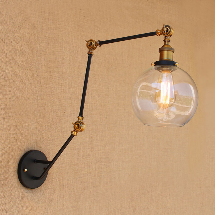 ?(^ ^)?Glass Antique Style Loft Industrial ? Vintage Vintage Wall Lights Fixtures For ? Home ...