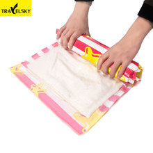 4pcs/set New Travel Accessories Clothes Storage Bags Foldable Travel Organizer Vacuum Bag Compressed Vacuum Travel Bag Packing