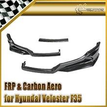 Автомобиль стайлинг Для Hyundai Veloster F35 FRP Стекловолокна Передняя Губа 3 шт. (Не Турбо Только)