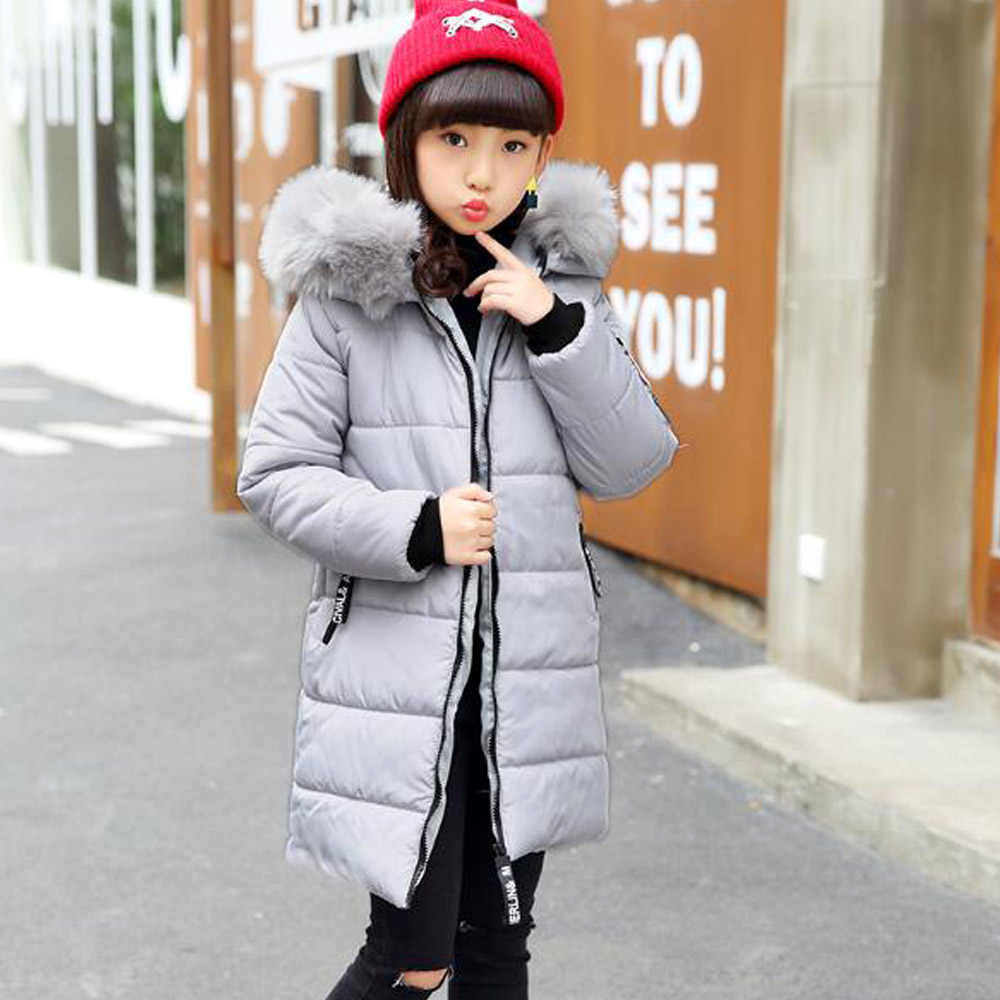 ... 2019 New Women s Outerwear Autumn Jackets Cotton Padded Cowl Hooded  Winter Children s Outerwear 5 6 7 ... f2a6ad25a1