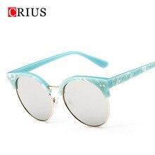T Marca CRIUS nuevas mujeres gafas de sol de las mujeres gafas de sol gafas de sol feminino gafas de sol mujer de la vendimia ronda