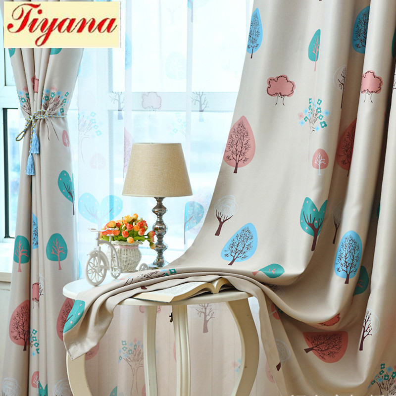 Top End Kids Curtains For Living Room Bedroom Happy Tree Design Window Curtains Baby Room Lovely Children Curtains WP180 *30