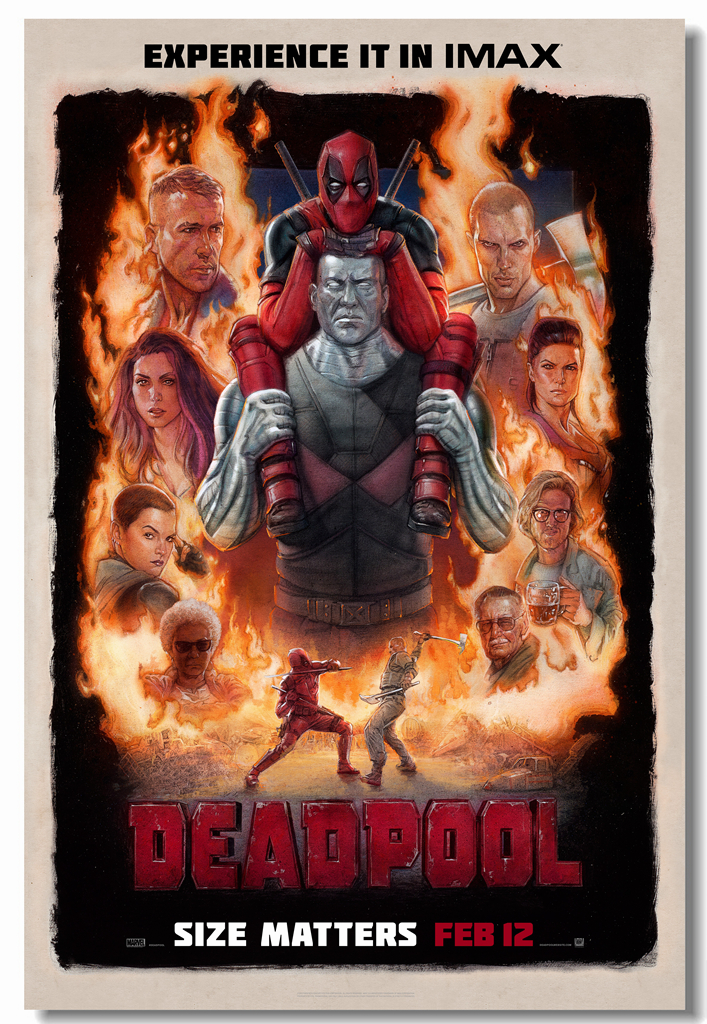 Us 599 25 Offcustom Canvas Wall Deca Marvel Superhero Deadpool Movie Poster Deadpool Stickers Cartoon Comics Wallpaper Bar Decoration 0413 In