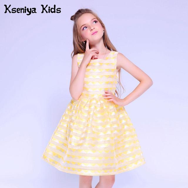 Kseniya Kids Dresses For Girls Summer Dress Princess Girl Birthday Party Dresses Cute Children Evening Dresses Age 10 12 13