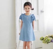 New Summer Jean Dress For Girls Princess, Children Baby Cute Denim Clothing