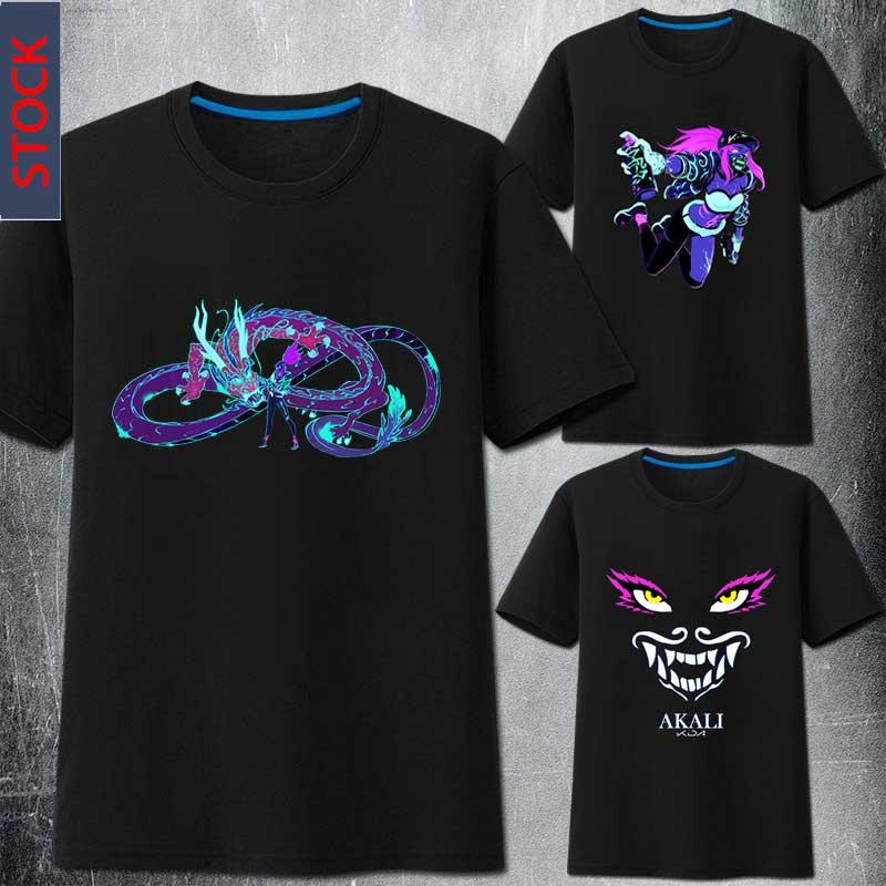 [STOCK]2019 Game LOL K/DA KDA Akali Cosplay Costume T Shirt T-shirt S-3XL Unisex NEW Top Tee Unisex Free Shipping
