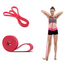 Most popular Fitness Equipment CrossFit Loop Pull Up Physical Resistance Bands Length 208cm color red 15-35lbs