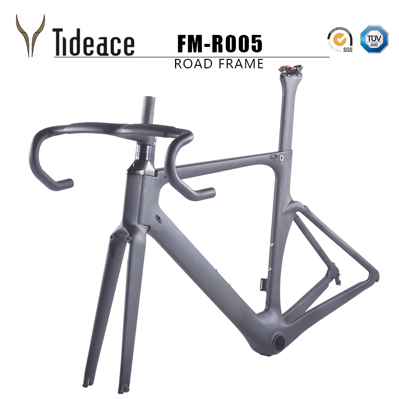 2018 AERO 700c Carbon road frame with integrated fork BB86 Road racing bike frame China cheap Carbon bike frame TRP Brake system 2017 carbon bicycle frame carbon road frames carbon frameset bb86 bsa frame aero road bike frame accept paint