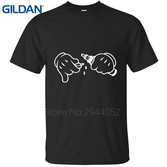 3467b3e47 Creature Brand-Clothing Good Designs A Drip and Vape Rick black t shirt  mans Round Collar tee shirts cotton