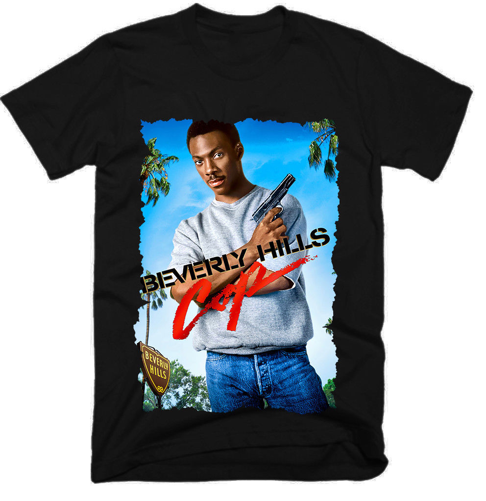 Beverly Hills Cop Movie Men Funny Tshirts Harajuku Top T Shirt Gym King Tee Shirt Skull T-Shirt Men Clothing 2019 image