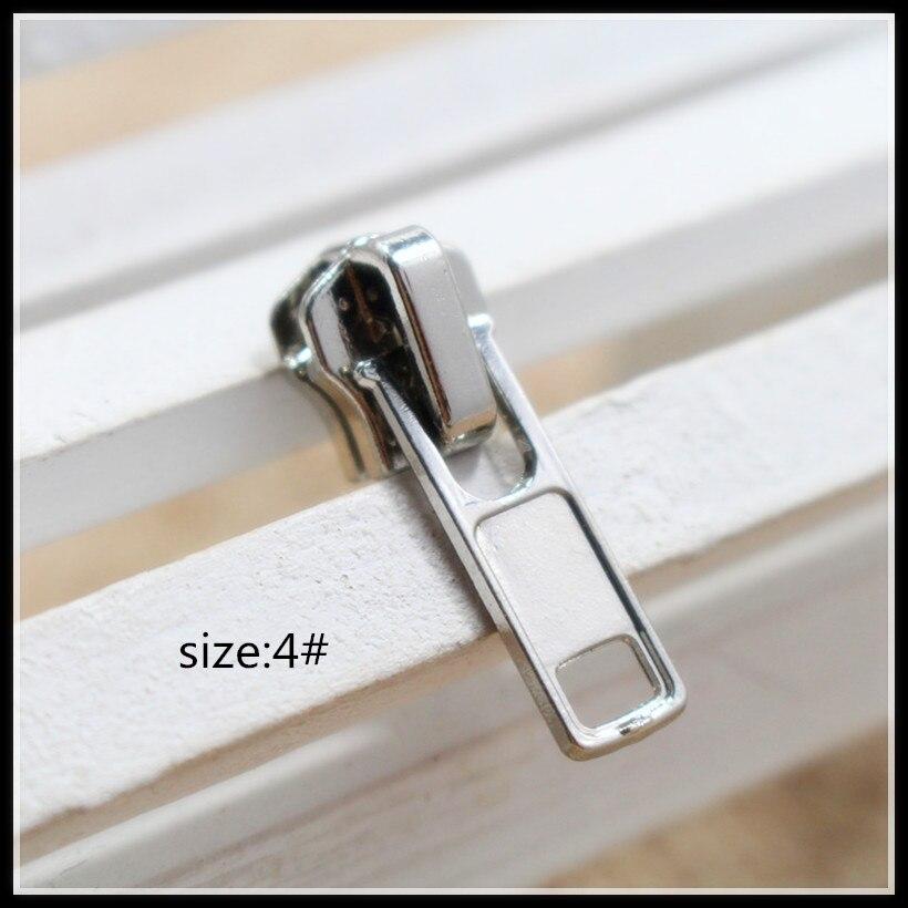 4 #20 штук оптовая продажа высокое качество серебристого металла медный молнией, аксессуары, Бегунки застёжки-молнии одежды Интимные аксессу...