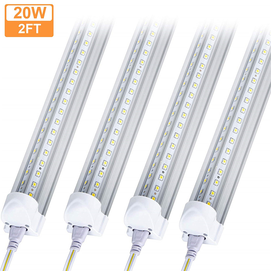 20W Cabinet Light Kitchen LED Tube T8 Fluorescent Wall Lamp 57cm 2FT 220V 110V T8 LED Closet Living Room Light 2000lm