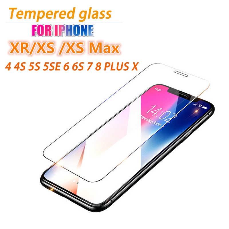 الزجاج المقسى ل فون 7 زجاج واقي ل فون X واقي للشاشة لفون 6 6 ثانية 7 8 زائد 5 5 ثانية SE 4 4 ثانية XS ماكس xr مموج