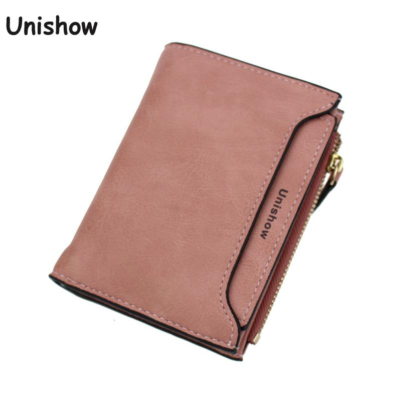 Unishow solid women short wallet small hasp women purse slim female wallet mini coin purse card holders 2018 pu leather women wallet casual long wallet female handbags teenage girl purse coin purse card holders portefeuille femme