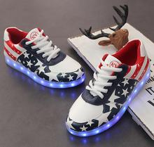 Light Up Led Luminous Shoes Color Glowing Casual Fashion With New Simulation Sole Charge For Men Adults Neon Basket