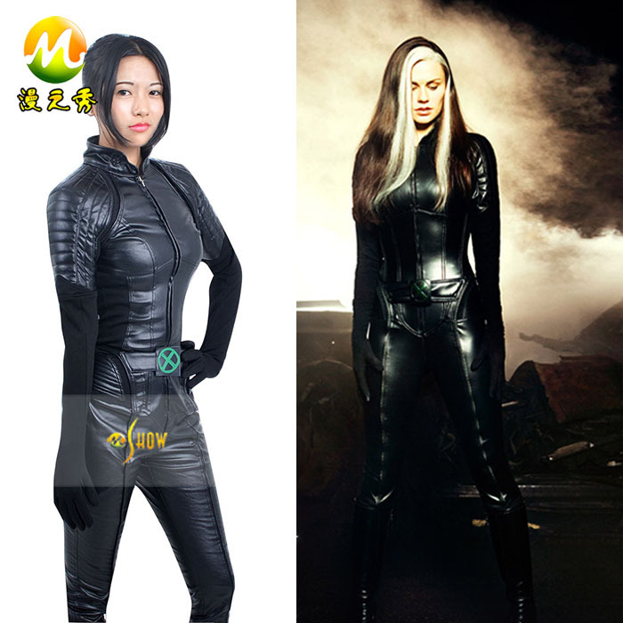 Aliexpress.com Acheter X Men 2 Rogue Marie DAncanto Cosplay Costume femmes Halloween Cosplay Superhero Costume noir en cuir Hot Sexy xxs 3xl de en cuir