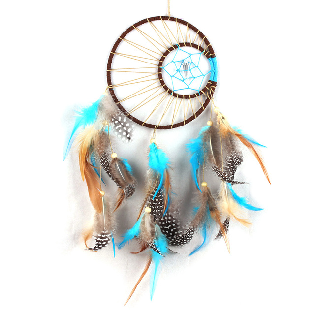 Handmade Dream Catcher Net With Feathers Wind Chimes Wall Hanging  Dreamcatcher Craft Gifts Car Room Decoration