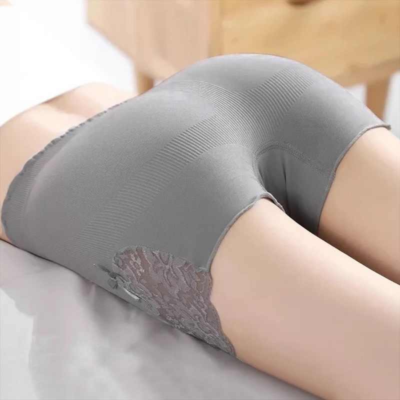 Loozykit, pantalones de encaje para mujeres, ropa interior de Control de abdomen, ropa interior, pantalones cortos de cintura alta, bragas sólidas, pantalones de Yoga sin costura adelgazantes