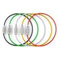 5 unid alambre de acero inoxidable llavero cuerda Cable llavero Key Holder 5 colores anillos mujeres hombres joyería