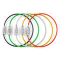 5PC Stainless Steel Wire Keychain Cable Rope Key Holder Keyring 5 Colors Key Chain Rings Women Men Jewelry