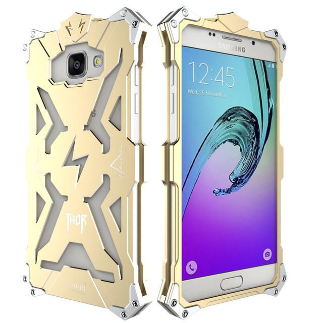 Zimon para samsung galaxy a5 a5108 a5100 2016 simon case de metal alumínio série thor tampa do telefone shell case para samsung galaxy a5