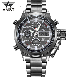 Image 1 - AMST Famous Luxury Brand Mens Watches Digital LED Military Watch Men Fashion Casual sports Electronics Man Wrist watches Relojes