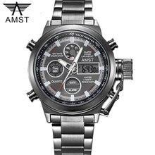 AMST العلامة التجارية الشهيرة الفاخرة رجالي الساعات الرقمية LED العسكرية ساعة الرجال موضة عادية الرياضة إلكترونيات رجل ساعات المعصم Relojes