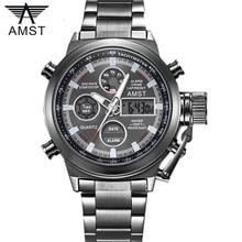 AMST ünlü lüks marka erkek saatler dijital LED askeri İzle erkekler moda Casual spor elektronik adam bilek saatler Relojes
