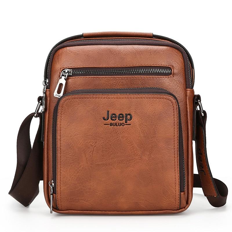 Mens High Grade PU Leather Shoulder Bag Crossbody Bag Leaher Vertical Casual Messenger Bag Male iPad Jeep Bag