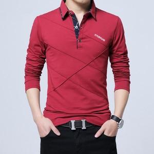 Image 4 - ARCSINX 5XL 폴로 셔츠 남성 플러스 크기 3XL 4XL 가을 겨울 브랜드 남성 폴로 셔츠 긴 소매 캐주얼 남성 셔츠 남성 폴로 셔츠
