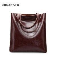 Women Oil Wax Leather Handbags New Designer Fashion Ladies Shoulder Bag Cowhide Women Daily Bags Large