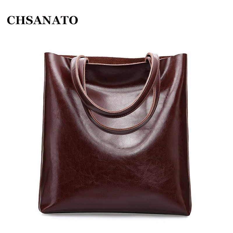 Women Oil Wax Leather Handbags New Designer Fashion Ladies Shoulder Bag Cowhide Women Daily Bags Large Capacity Shopping Bag 2017 women leather handbags summer new oil wax cowhide handbags female retro handbag fashion simple shoulder messenger bags