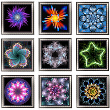 Diamond Painting Drawing Round Resin Rhinestone 5D Embroidery Fantasy Flower Cross Stitch Mosaic