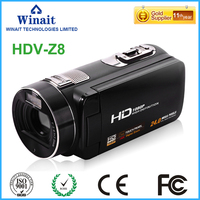 "Full hd 1080p video camera 3.0"" touch LCD display 24mp FHD 1080p hdv professional camcorder with face and smile detection"