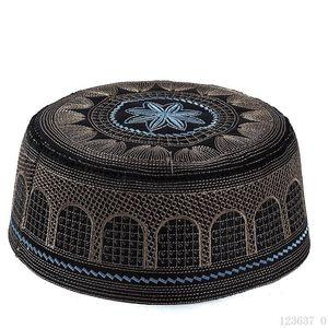 Image 3 - 2019 Muslim Men Prayer Hats WhiteTurkish Arabic Knitted Hat Islamic Caps Headscarf Clothing Arab Crochet Islamic Fashion Saudi