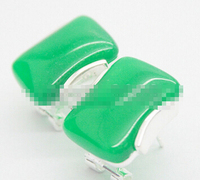 Bridal jewelry free shipping hot sellELEGANT NEW LADY'S NATURAL GREEN JADE GEMS 925 STERLING SILER STUD EARRINGS