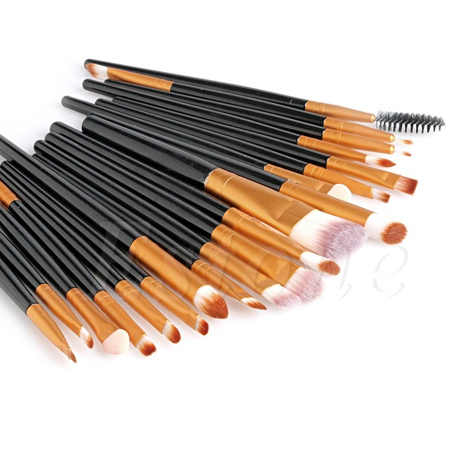 20Pcs Cosmetic Brushes Pro Powder Foundation Eyeshadow Eyeliner Lip Makeup Set Makeup Eyeshadow Foundation Concealer Brushes