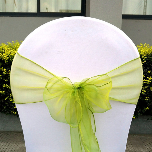 50 pcslot apple green wedding decorations wedding organza chair 50 pcslot apple green wedding decorations wedding organza chair sashes bow weddings chair bow junglespirit Image collections