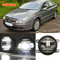 eeMrke Car Styling For Citroen C5 2001-2007 2 in 1 Multifunction LED Fog Lights DRL With Lens Daytime Running Lights