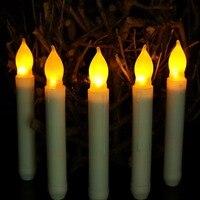 12 Uds electrónico velas cilíndrico 2 * batería LED AA Polo velas larga velas