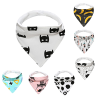 Bavoirsj Baby Bibs Wholesale Fox Bear Printing Bat Man White Back Burp Cloth For Baby Winter