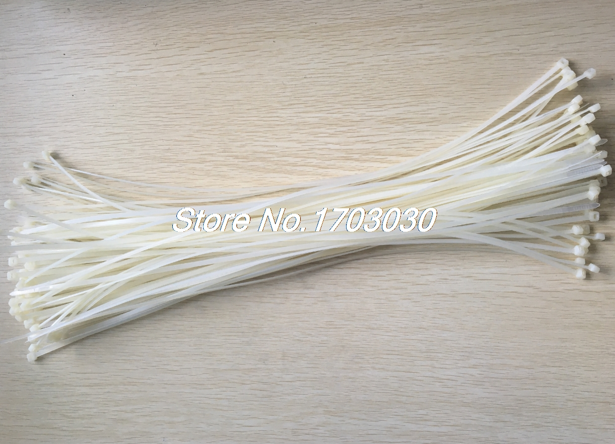 100 Pcs 4 2mm X 500mm White Nylon Zip Tie Wrap For Cable