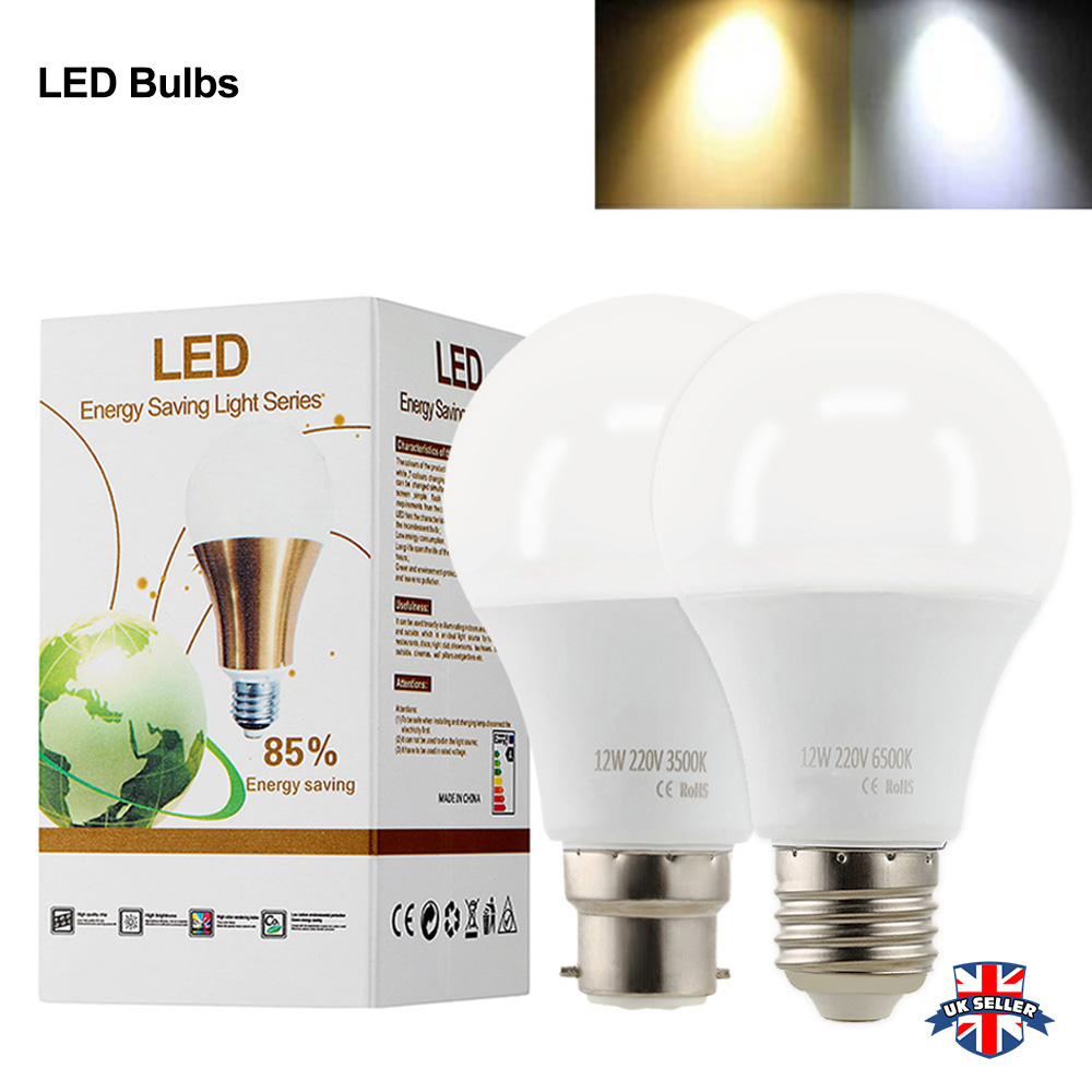 LED Bulb E27/B22 Led 220V-240V Led Light Bulb Smart IC Real Power 9W 12W Lampada LED Lamp Bombillas Led