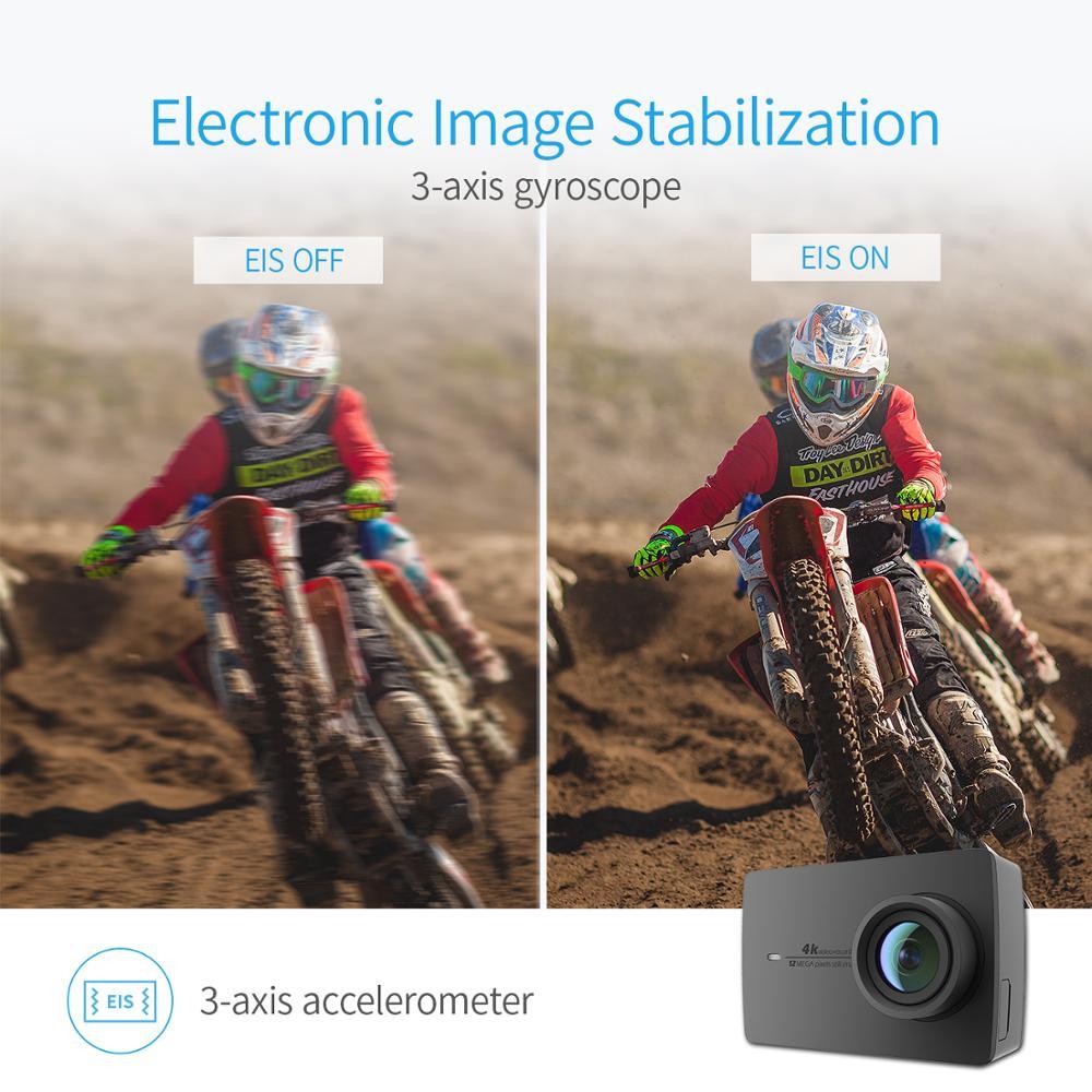 YI 4K Action et sport caméra 4 K/30fps vidéo 12MP Image brute avec EIS commande vocale Ambarella A9SE puce 2.19 pouces écran tactile - 6