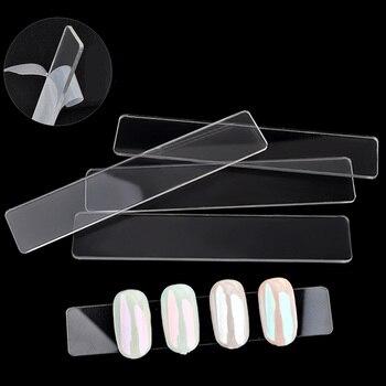 10pcs Nail Art Display Plate Uv Gel Polish Manicure Works False Nails Anti Slip Display Board Transparent Acrylic Nails Beauty Маникюр