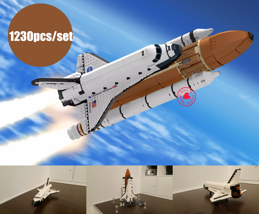 цена на NEW Space Shuttle expedition creator fit legoings technic city figures Model Building Block Bricks idea 10231 gift kid diy Toy